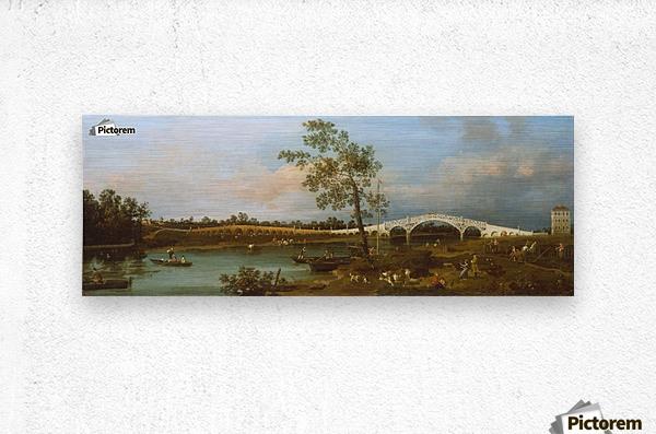 CANALETTO-Old Walton Ponte sul Tamigi 1754 stampa 61x91.5cm
