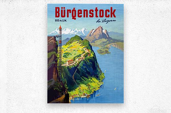 Burgenstock  Metal print