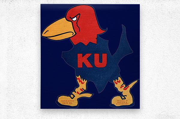 1929 Kansas Jayhawk Art  Metal print