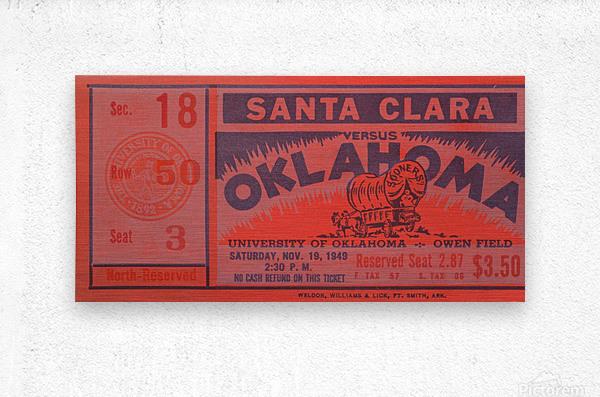 1949 oklahoma sooners bud wilkinson undefeated sooner team  Metal print