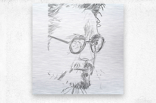 Robert Downy Jr. - Celebrity Pencil Art  Metal print