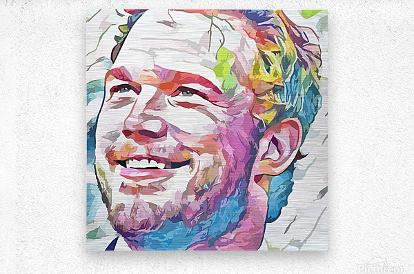 Chris Pratt - Celebrity Abstract Art  Metal print