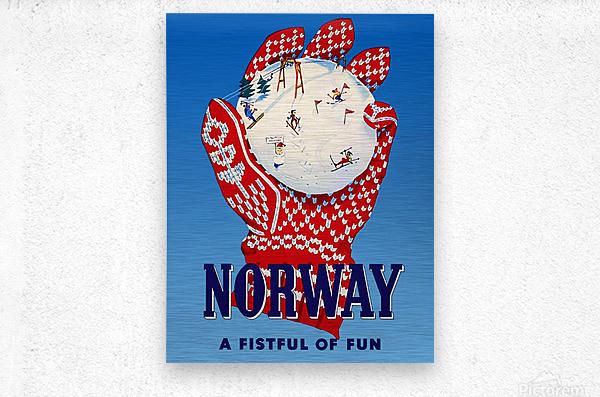 Norway Fistful of Fun  Metal print