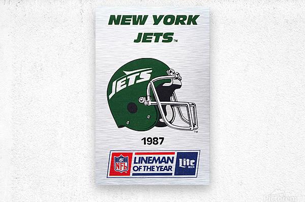 1987 New York Jets Helmet Art  Metal print