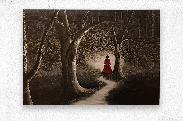 Lady in red2  Metal print