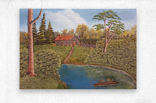 Hunting lodge  Metal print