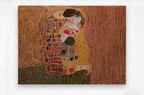 Kiss by Klimt  Metal print
