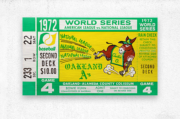 1972 world series oakland athletics  Metal print