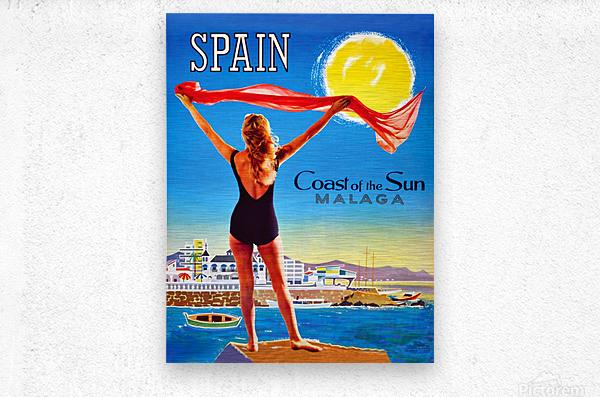 Girl on Malaga Beach  Metal print