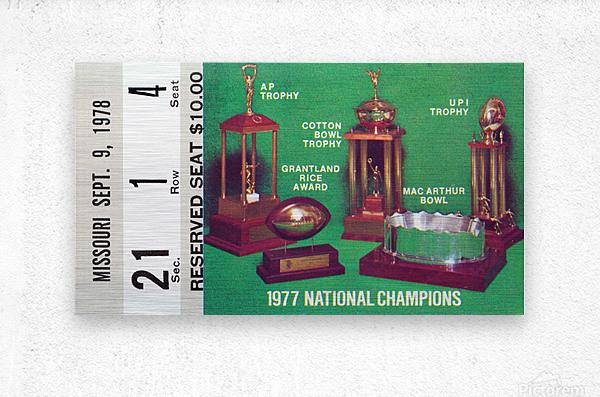 1978 notre dame football ticket stub prints  Metal print