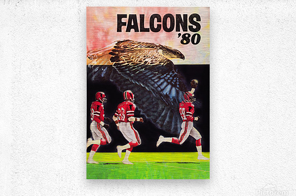 1980 retro nfl atlanta falcons poster  Metal print