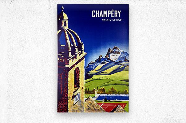 Champery  Metal print