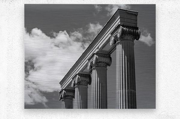 KIng West Columns  Metal print