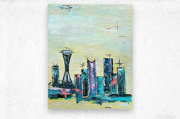 Uptown Seattle   Metal print