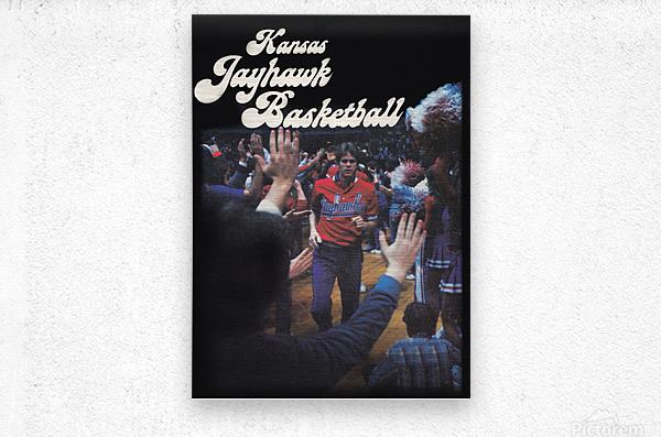 vintage kansas jayhawks basketball poster ku 1982  Metal print