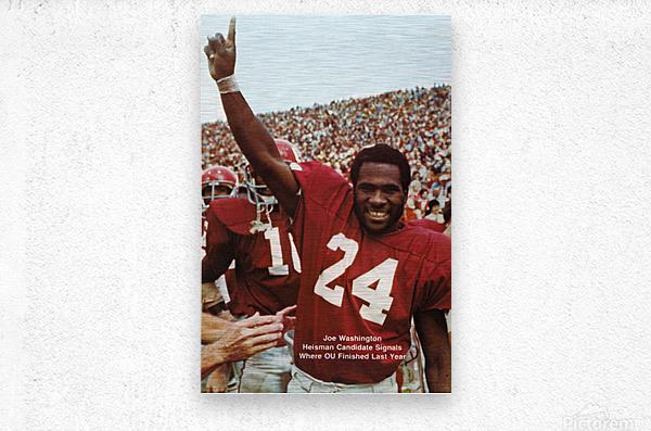 1974 oklahoma sooners football national champions poster sports wall art  Metal print