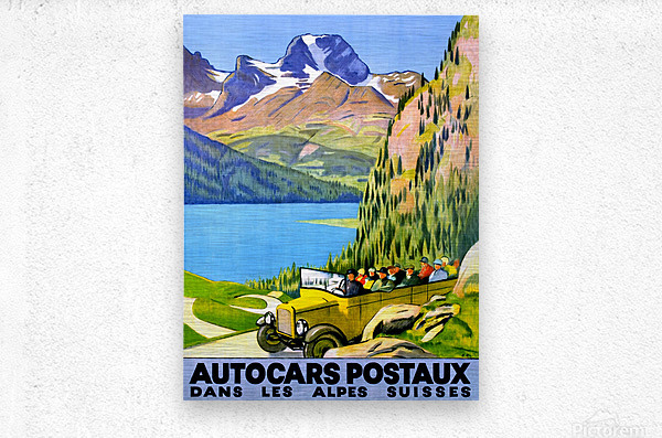 Swiss Alps by Car  Metal print