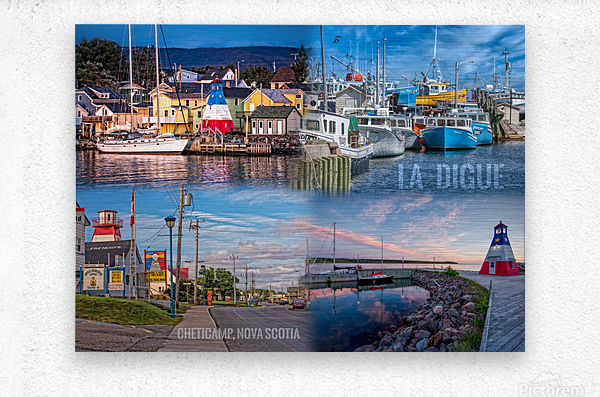 Cheticamp Collage  Metal print
