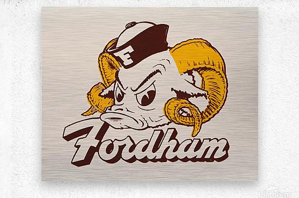 vintage fordham ram mascot college art  Metal print