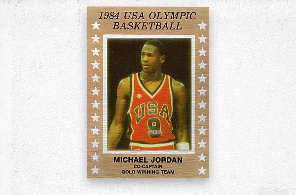 1984 USA Olympic Basketball Michael Jordan  Metal print