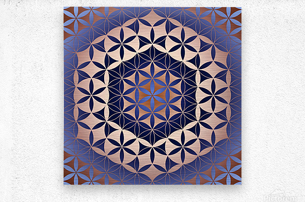 Flower of Life Mandala Pattern  Metal print