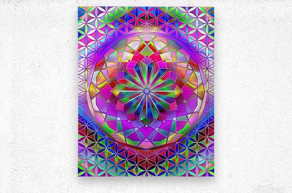 Crystal Flower Mandala  Metal print