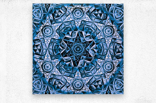 Sacred Geometry Handdrawing Pattern  Metal print