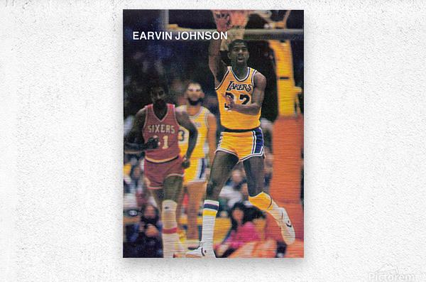 1983 Magic Johnson LA Lakers  Metal print