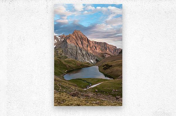 Sunrise on the Mountain  Metal print