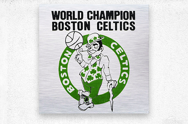 1981 Boston Celtics World Champions Art Reproduction  Metal print