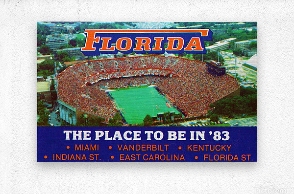1983 college football florida gators place to be in 83  Metal print