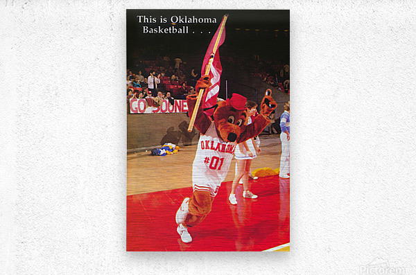 billy tubbs era top daug oklahoma sooners basketball poster prints on wood  Metal print