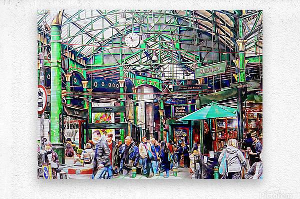 Borough Market London  Metal print