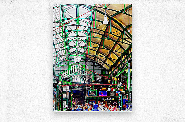 Roof Over Borough Market  Metal print