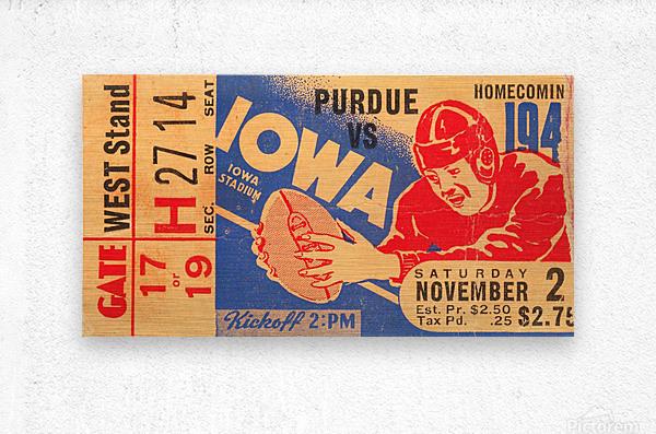 1940 Iowa vs. Purdue  Metal print