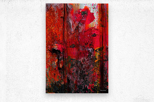 Dont touch the flowers or theyll die  Metal print