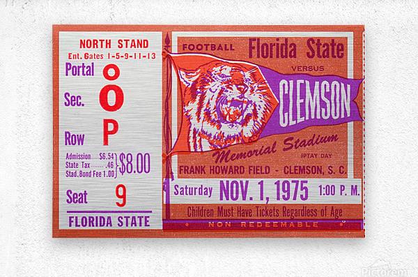 1975 Florida State vs. Clemson  Metal print