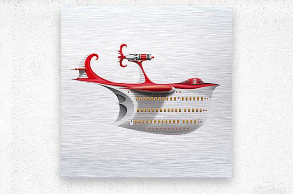 Avione Pelikanum Solo  Metal print