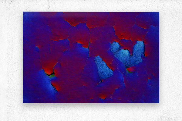 Rouge ecaille  Metal print
