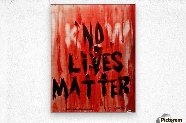 KnoW  lives matter  Metal print