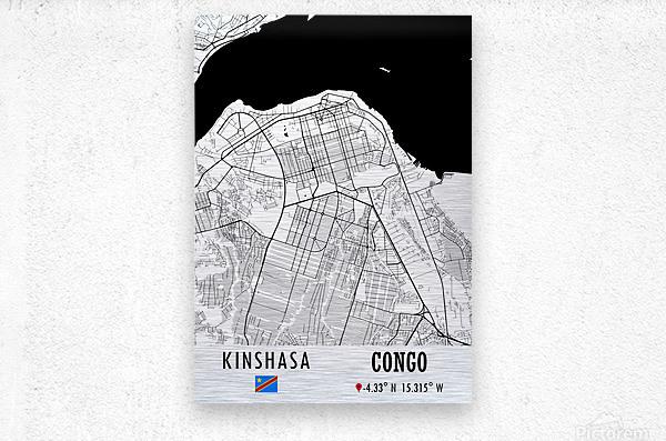 Kinshasa CONGO  Metal print