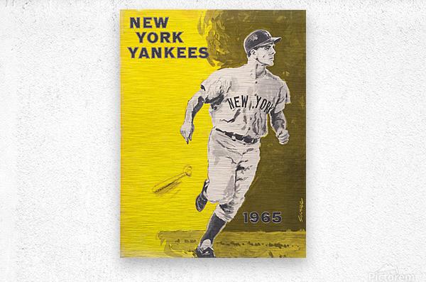1965 new york yankees poster  Metal print