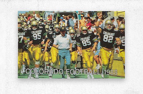 1988 colorado football  Metal print