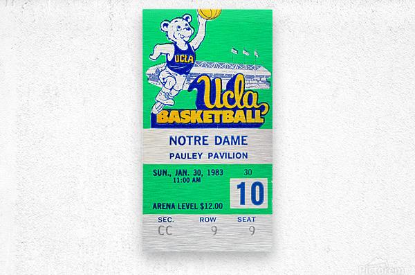 1983 notre dame ucla bruins college basketball  Metal print