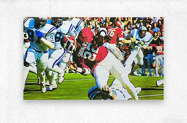 1982 Marcus Dupree Oklahoma Football Art  Metal print