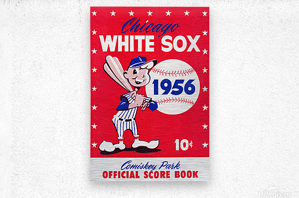 1956 chicago white sox score book canvas  Metal print