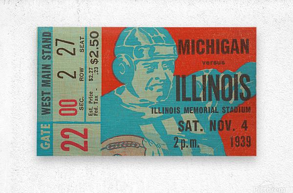 1939 Michigan vs. Illinois  Metal print