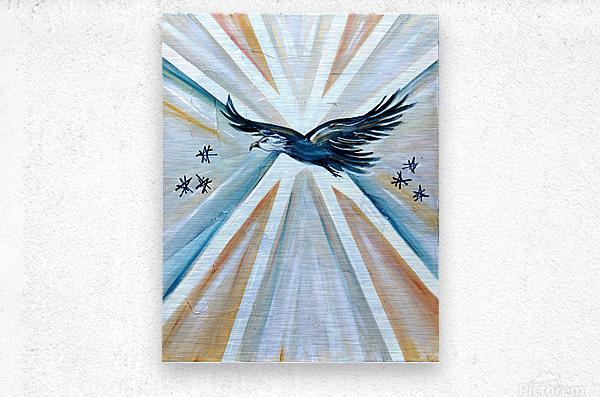 Art deco Freedom  Metal print