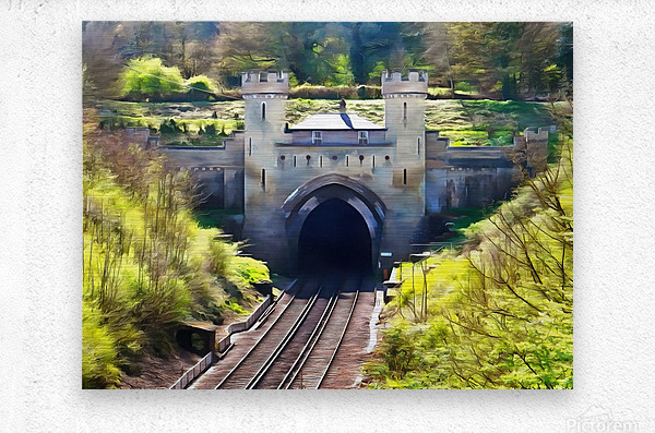 Clayton Tunnel in Sussex England  Metal print