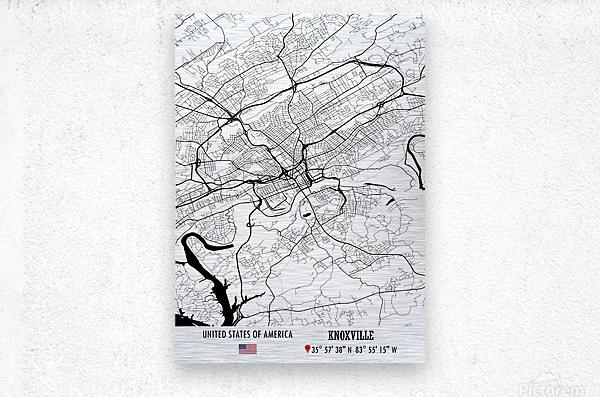 Knoxville USA  Metal print